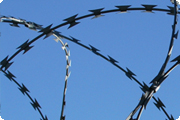 property protection with razor wire