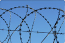 Razor wire as property protection device