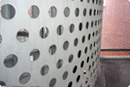 perforated plates: plates with round and square holes	perforated plates