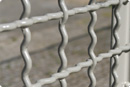 Woven wire mesh for fencing